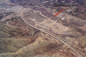 Site of Parachute spill Source: ecoflight