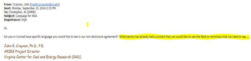 email re Karmis wants NDA