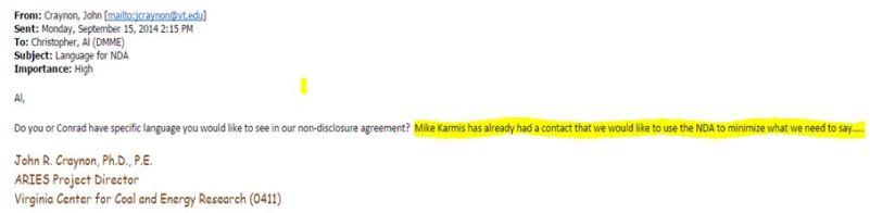 email re Karmis wants NDA