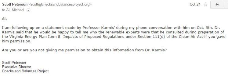 email Scott re permission